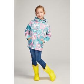 Куртка для девочки, цвет розовый камуфляж, рост 110-116 см