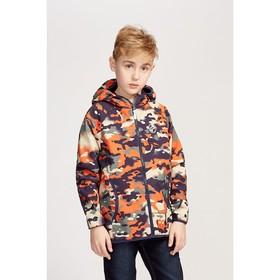 Куртка для мальчика, цвет синий камуфляж, рост 110-116 см