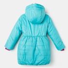 Пальто для девочки, цвет бирюзовый, рост 86-92 см - фото 105563768