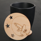 "Stand for a mug ""Fairy on the moon"", 9x9 cm"