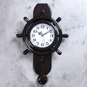 """Часы настенные, серия: Маятник, """"Кампо"""" d=23 см, 41х63х8 см, плавный ход, 1 АА"""