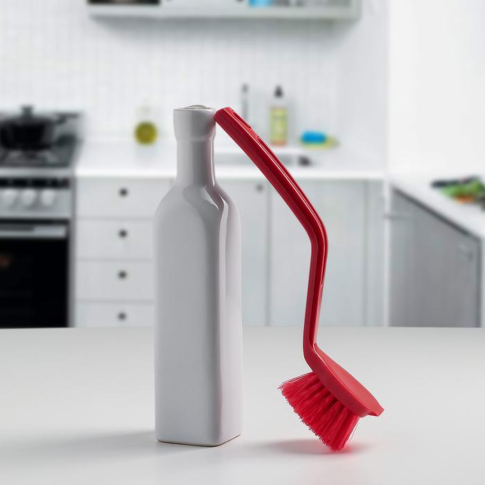 Щетка для посуды жесткая, цвет МИКС