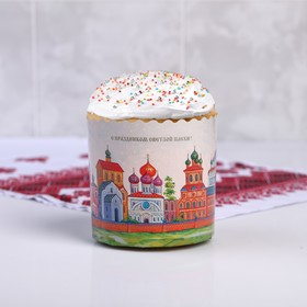 """Form paper for cupcake, muffins and cake """"Kremlin"""" 90x90 mm"""