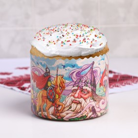 """Form paper for cupcake, muffins and cake """"Pushkin's fairy Tales"""" 134x100 mm"""