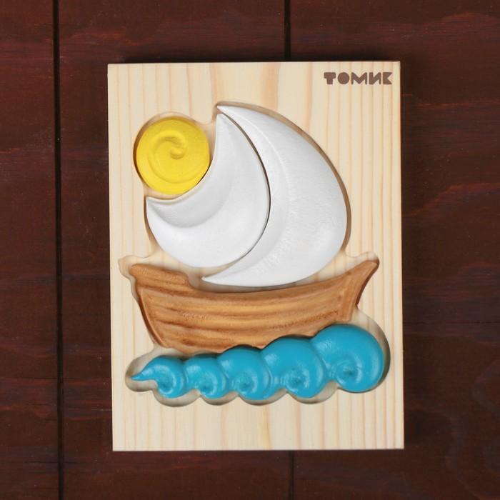 Пазлы-картинки объемные «Кораблик»
