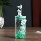 "Souvenir Polyresin light ""White bear balloon"" glow in the dark jar MIX 18х7х7 cm 46350"