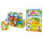 Набор мягких кубиков «Мои любимые сказки» с книгой, 6 шт., 8 × 8 см - фото 76143962