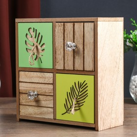 Box wood chest of drawers 4 drawer