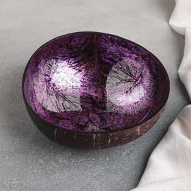 Чаша «Панно», d=13 см, из скорлупы кокосового ореха