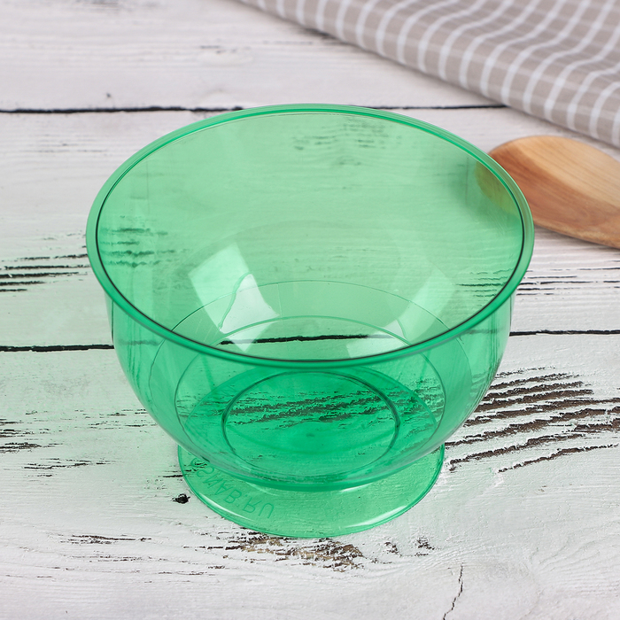 Креманка 200 мл «Кристалл», цвет зелёный