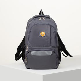 Рюкзак школьный, отдел на молнии, 2 наружных кармана, 2 боковых кармана, дышащая спинка, цвет серый