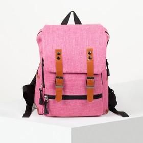 Рюкзак школьный, отдел на молнии, 2 наружных кармана, 2 боковых кармана, цвет розовый