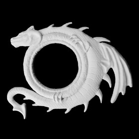 """Фоторамка """"С драконом"""" белая"""