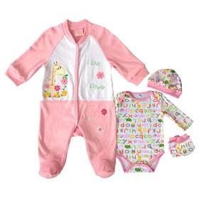 Комплект для девочки, рост 62 см, цвет розовый