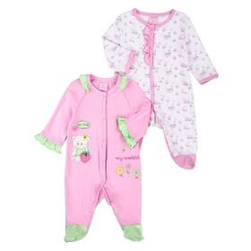Комплект для девочки, рост 68 см, цвет розовый