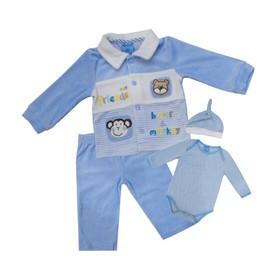 Комплект для мальчика, рост 62 см, цвет голубой