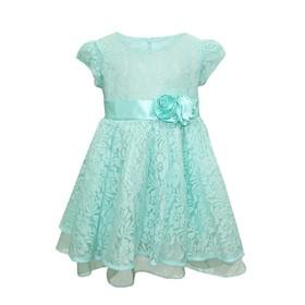 Платье для девочки, рост 86 см, цвет мятный
