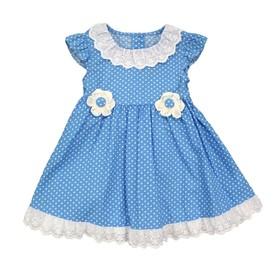 Платье для девочки, рост 74 см, цвет голубой