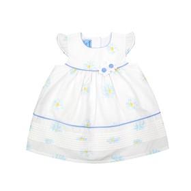 Платье для девочки, рост 68/74 см, цвет голубой