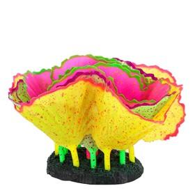 Флуоресцентная аквариумная декорация GLOXY «Морской салат» разноцветный 11x8x12 см