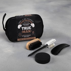 "A set of road shoes for the ""True man"", brush 2pcs., sponge, spatula"