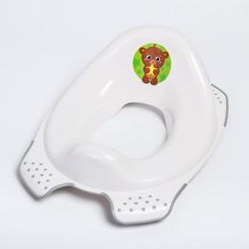 """Накладка на унитаз детская """"Мишка"""", цвет белый"""