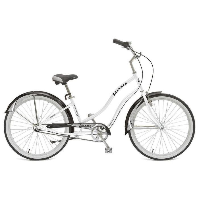 "Велосипед 26"" Stinger Cruiser NEXUS Lady, 2018, цвет белый, размер 16"""