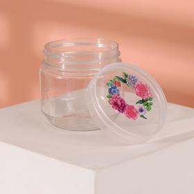 Баночка для хранения «Цветы», 100 мл, цвет прозрачный