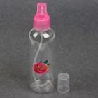 Бутылочка для хранения «Счастье», с распылителем, 150 мл, цвет розовый