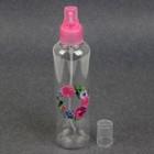 Бутылочка для хранения «Цветы», с распылителем, 200 мл, цвет розовый