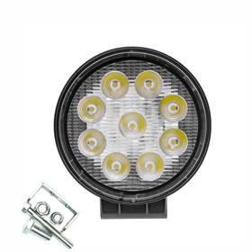 Фара светодиодная OFF ROAD, KS-WR009S (SLIM), 9 диодов, 27 Вт, направленный свет, алюминиевый корпус, пылевлагозащищенный, 115х30х125 мм, 12/24 В