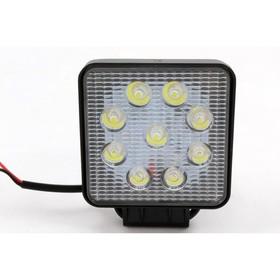 Фара светодиодная OFF ROAD, KS-WSQ009S (SLIM), 9 диодов, 27 Вт, направленный свет, алюминиевый корпус, пылевлагозащищенный, 105х28х125 мм, 12/24 В
