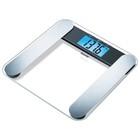 Весы напольные Beurer BF 220, диагностические, до 180 кг, 2хCR2032,10 ячеек памяти, стекло