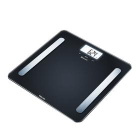 Весы напольные Beurer BF 600 Pure Black, диагностические, до 180 кг, 3хААА, 8 ячеек памяти
