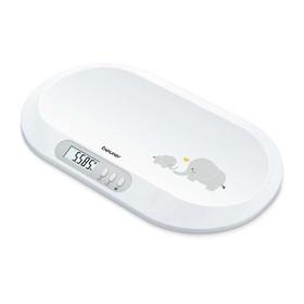 Весы детские Beurer BY 90, до 20 кг, шаг 5 гр, ЖК-дисплей, 3 x AAA, белые Ош