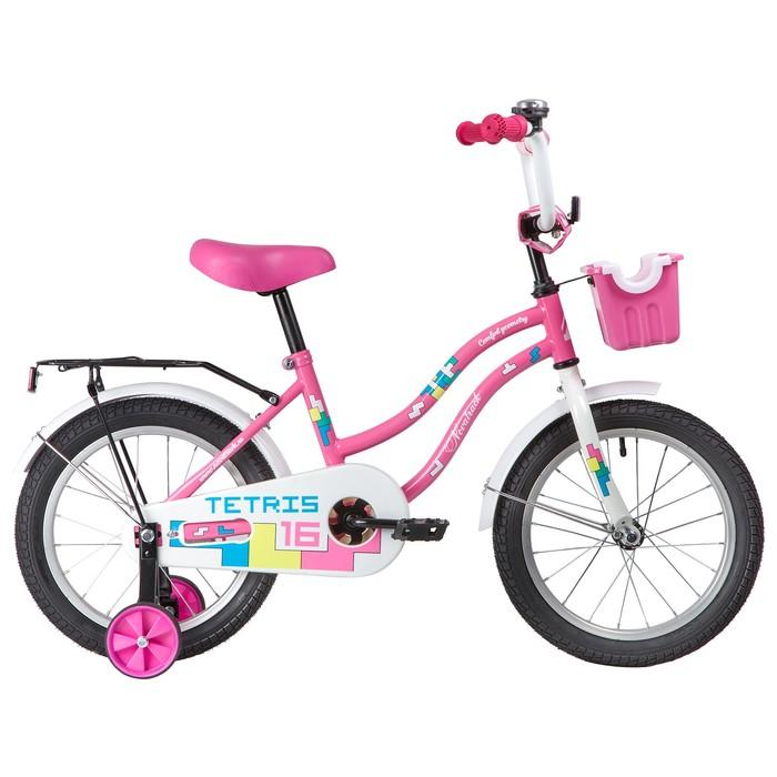 """Велосипед 16"""" Novatrack Tetris, 2020, цвет розовый"""