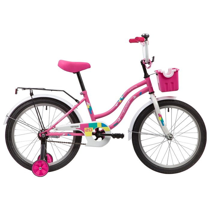 """Велосипед 20"""" Novatrack Tetris, 2020, цвет розовый"""