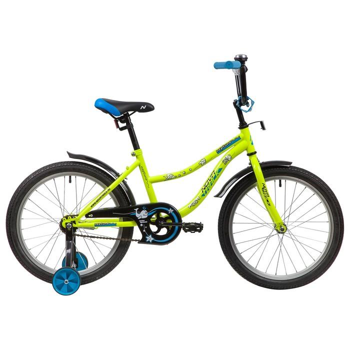 """Велосипед 20"""" Novatrack Neptune, 2020, цвет салатовый"""