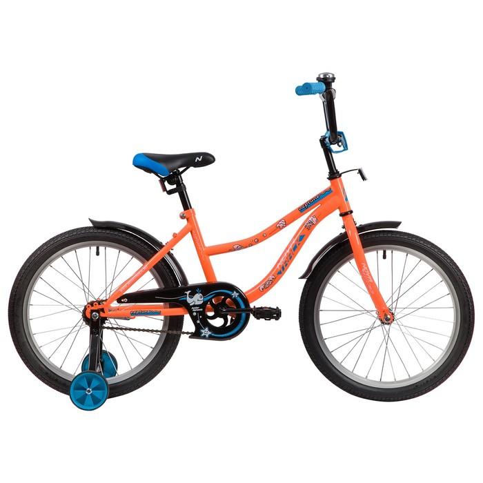 """Велосипед 20"""" Novatrack Neptune, 2020, цвет оранжевый"""