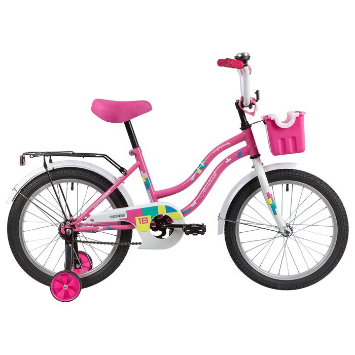 """Велосипед 18"""" Novatrack Tetris, 2020, цвет розовый"""