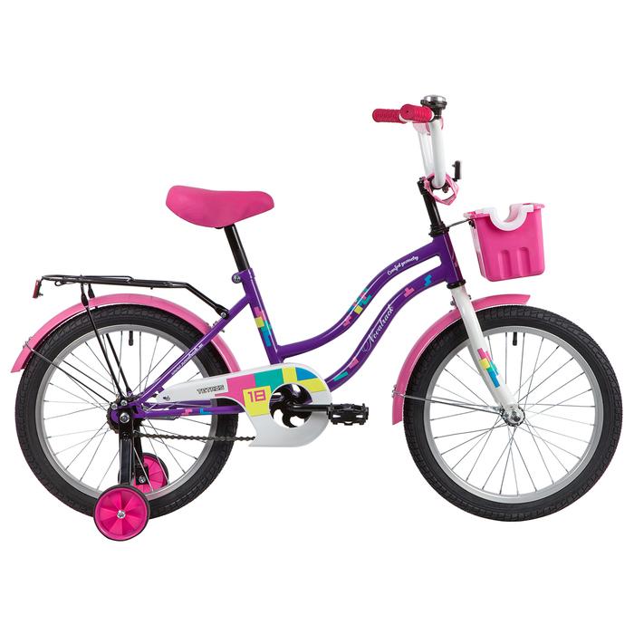 """Велосипед 18"""" Novatrack Tetris, 2020, цвет фиолетовый"""