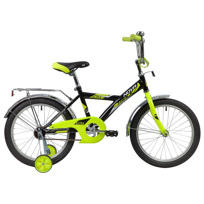 """Велосипед 18"""" Novatrack Astra, 2020, цвет чёрный"""