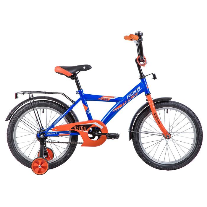 """Велосипед 18"""" Novatrack Astra, 2020, цвет синий"""