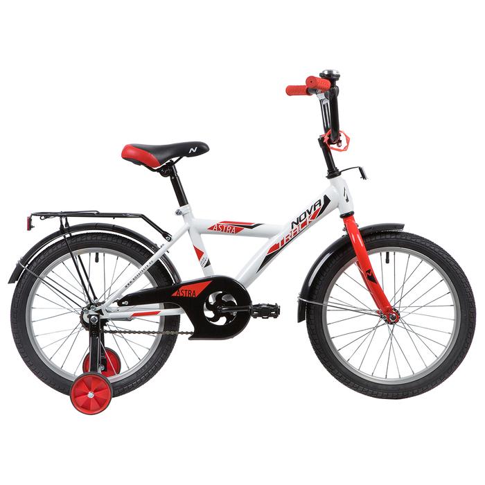 """Велосипед 18"""" Novatrack Astra, 2020, цвет белый"""