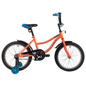 """Велосипед 18"""" Novatrack Neptun, 2020, цвет оранжевый"""
