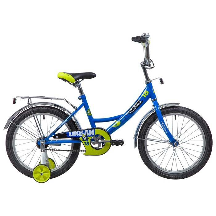 """Велосипед 18"""" Novatrack Urban, 2019, цвет синий"""