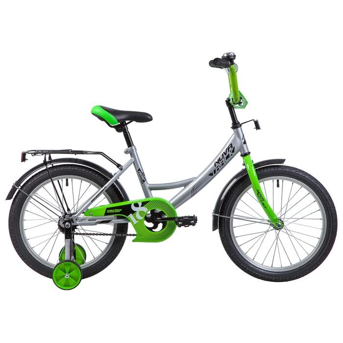 """Велосипед 18"""" Novatrack Vector, 2019, цвет серебристый"""