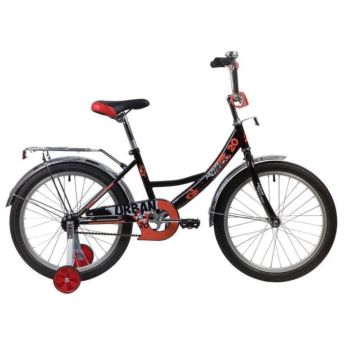 """Велосипед 20"""" Novatrack Urban, 2020, цвет чёрный"""