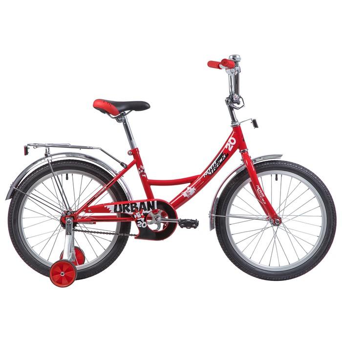 """Велосипед 20"""" Novatrack Urban, 2019, цвет красный"""