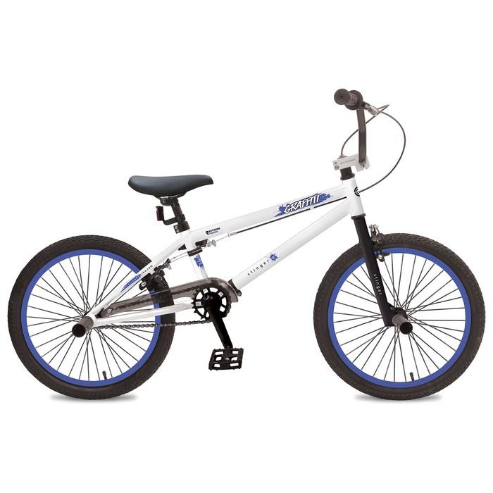"Велосипед 20"" Stinger BMX Graffiti, 2019, цвет белый, размер 10"""